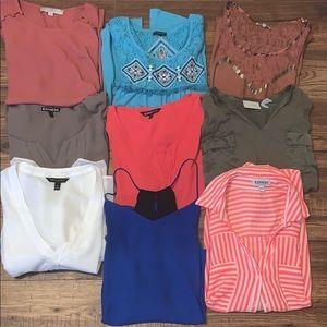 Medium shirt bundle! 9 shirts for one price!!